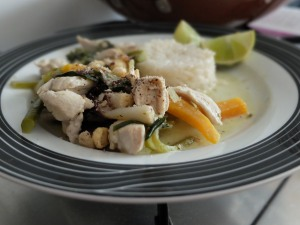 Thai Green Chicken Curry, 7 July 2014