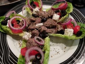 Greek lamb salad, 7 July 2014